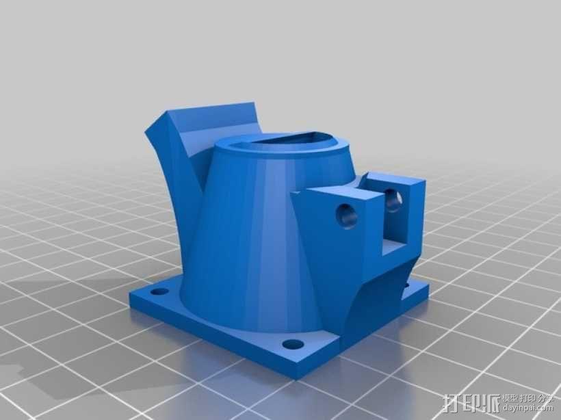 挤出机风扇通风导管 3D模型  图1