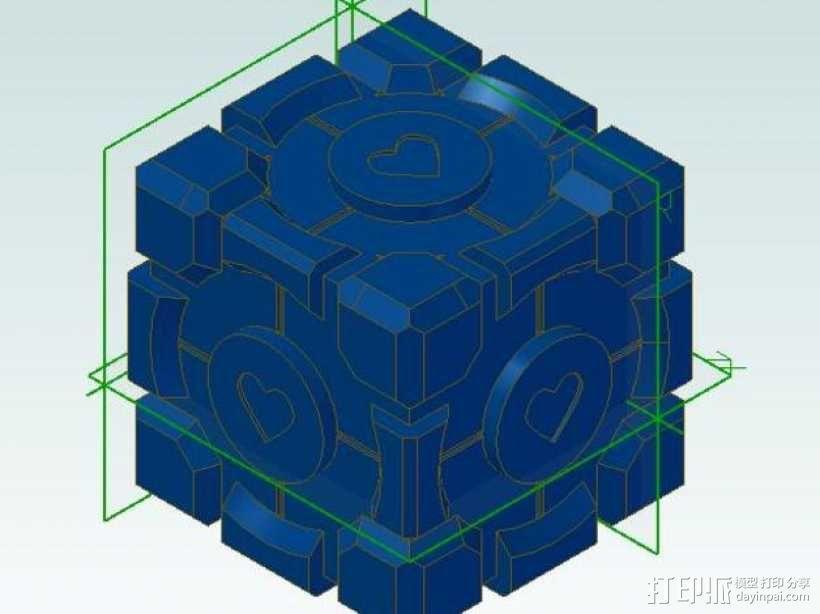 传送门方块 3D模型  图1
