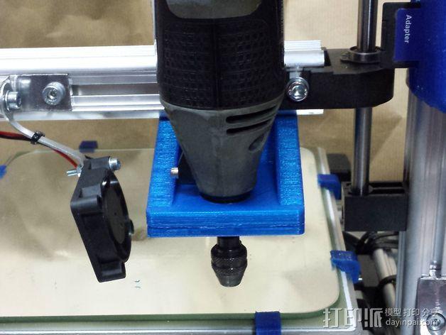 K8200/3DRag打印机的的电摩支架 3D模型  图2
