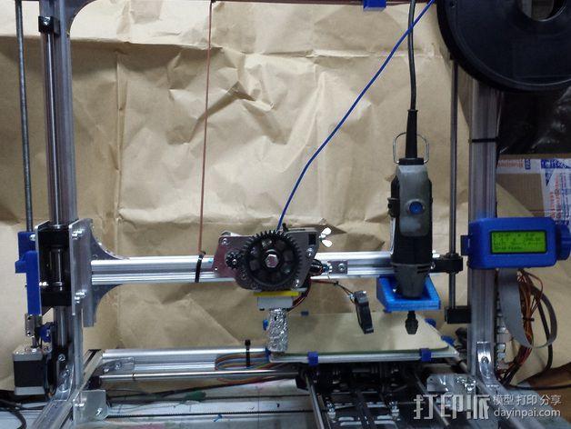 K8200/3DRag打印机的的电摩支架 3D模型  图3