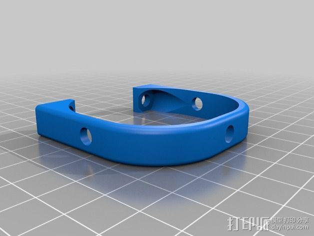 达美电摩支架 3D模型  图2