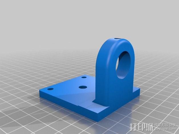 达美电摩支架 3D模型  图3