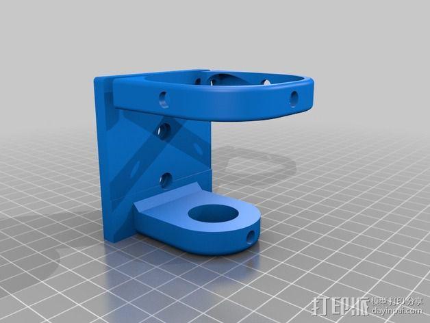 达美电摩支架 3D模型  图4
