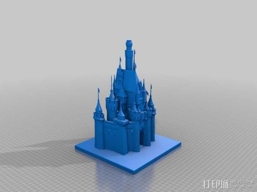 睡美人的城堡 3D模型  图1