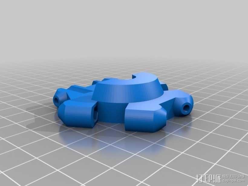 Mini Kossel 打印机的效应器 3D模型  图3