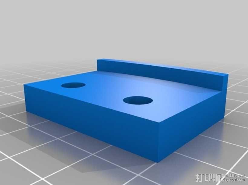 Mini Kossel 打印机打印床安装支撑器 3D模型  图2