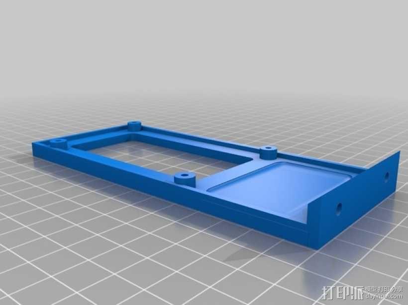 Kossel mini 打印机的电路板支架 3D模型  图1