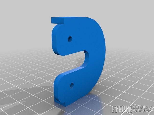 QU-BD Two-Up 打印机的滑轮 3D模型  图3
