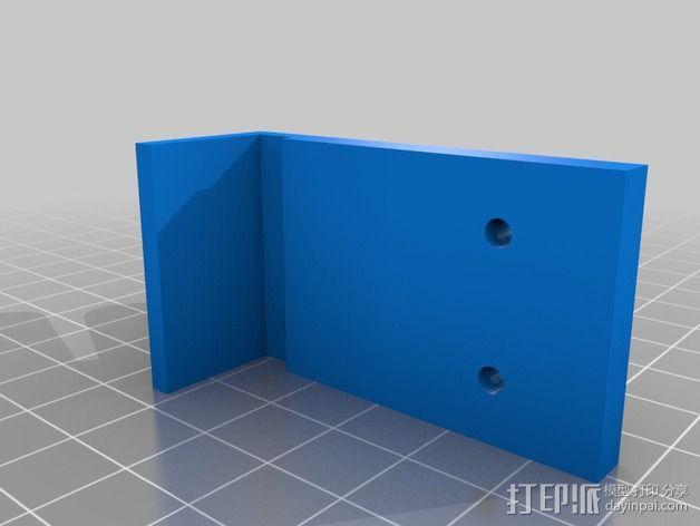 QU-BD Two-Up 打印机的滑轮 3D模型  图2