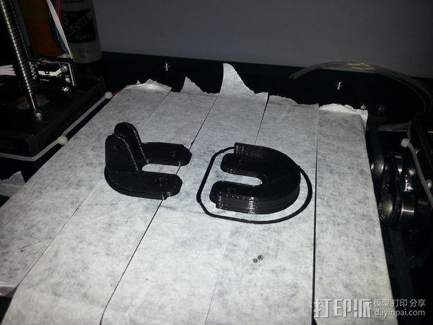 QU-BD Two-Up 打印机的滑轮 3D模型  图1