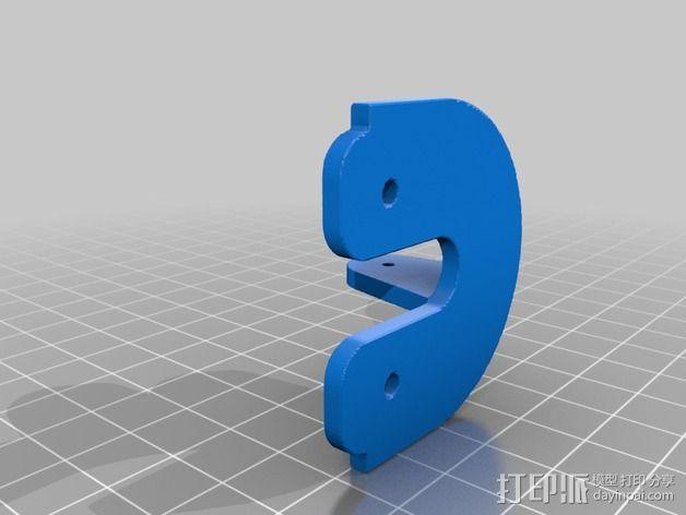 QU-BD Two-Up 打印机的滑轮 3D模型  图4