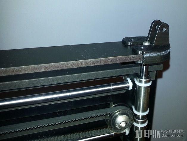 QU-BD Two-Up 打印机的滑轮 3D模型  图5