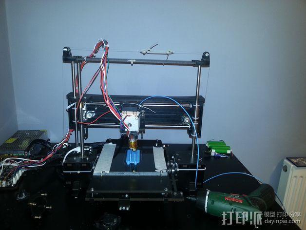 QU-BD Two-Up 打印机的滑轮 3D模型  图11