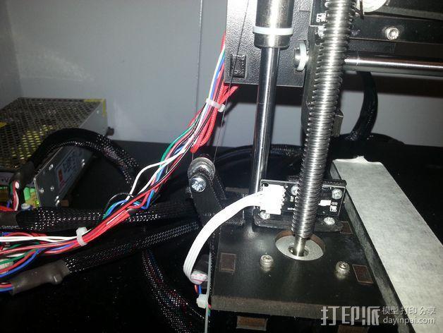 QU-BD Two-Up 打印机的滑轮 3D模型  图12
