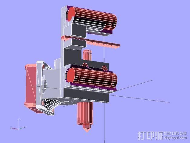 挤出机支架 3D模型  图6
