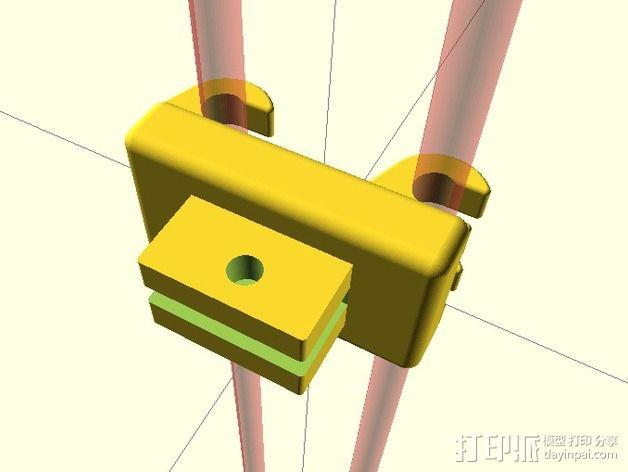 刻度盘指示器支撑架 3D模型  图5