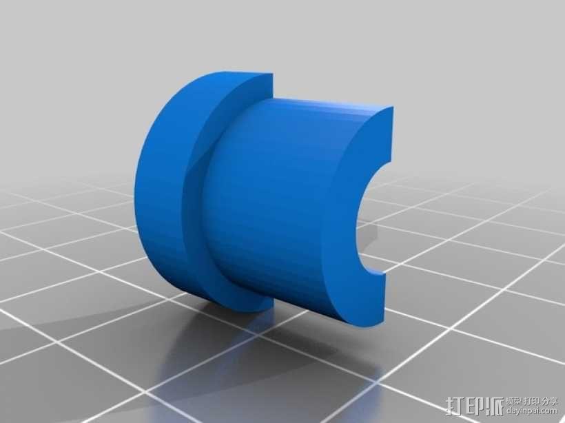 导线器 线材滤尘器 3D模型  图3