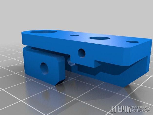 可调节的限位开关 3D模型  图2