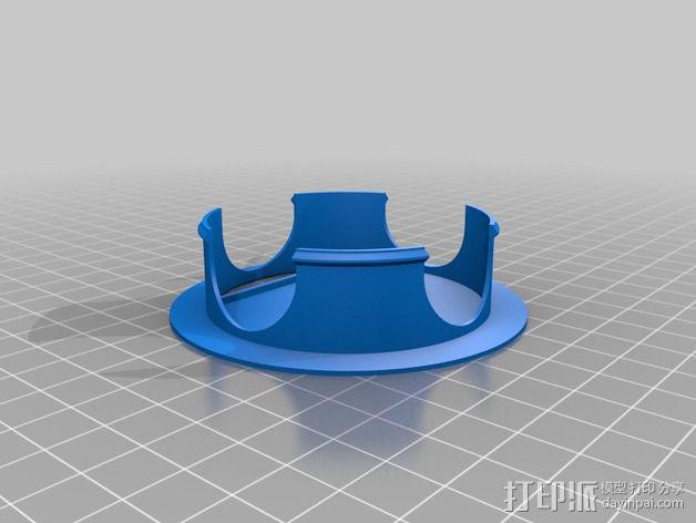 桌面电线卡扣 3D模型  图2