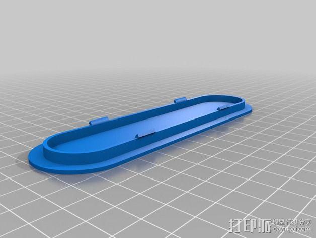 侧板插头 3D模型  图2