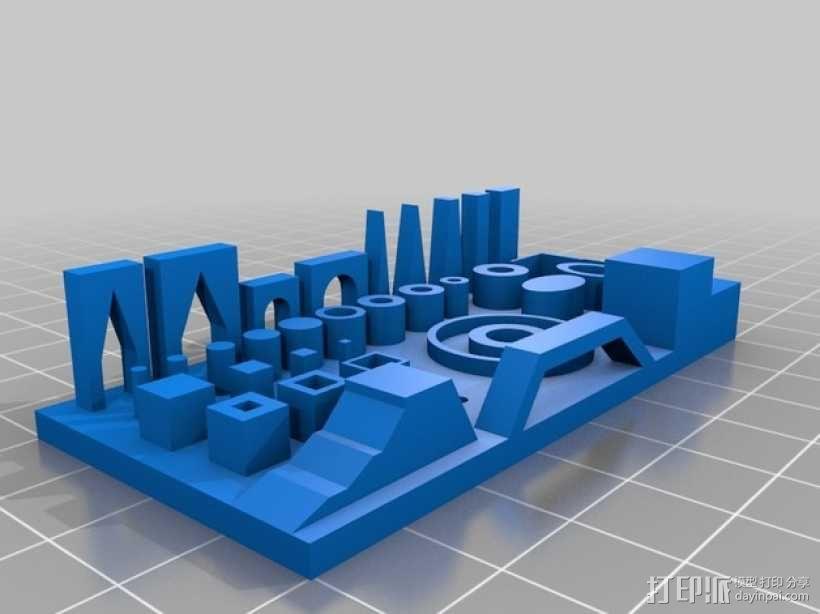 精度测试 3D模型  图1