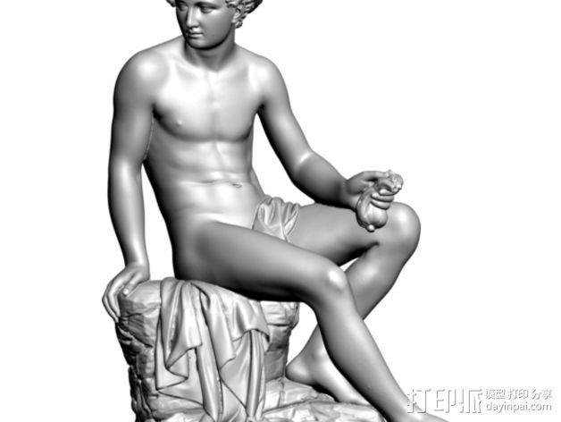 水星雕像 3D模型  图1