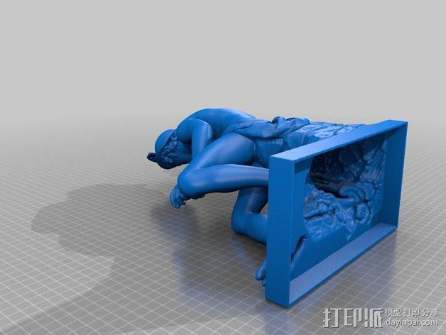 水星雕像 3D模型  图2