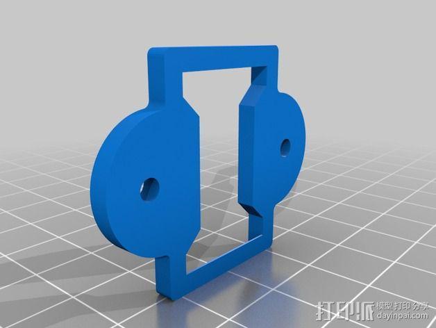 电源开关支架 3D模型  图2