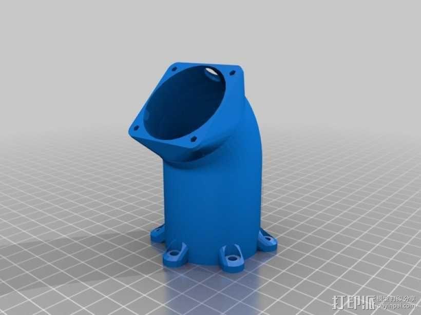 冷却风扇适配器 3D模型  图1