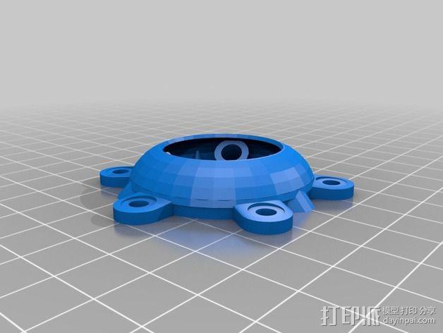 冷却风扇适配器 3D模型  图2