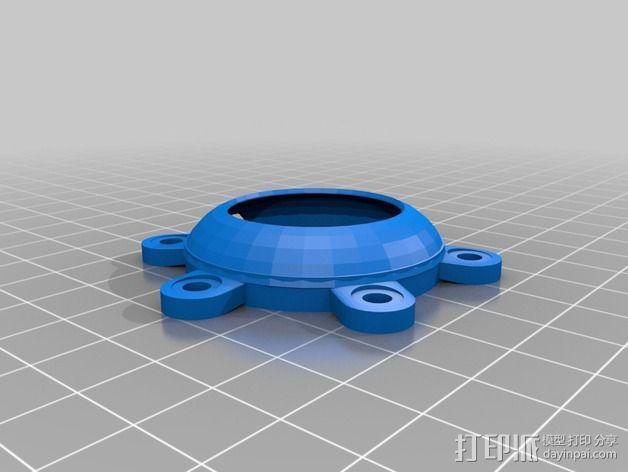 冷却风扇适配器 3D模型  图3