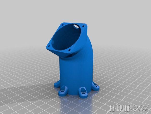 冷却风扇适配器 3D模型  图4