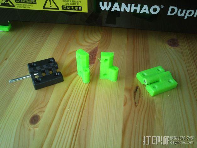 打印机前窗铰链 3D模型  图3