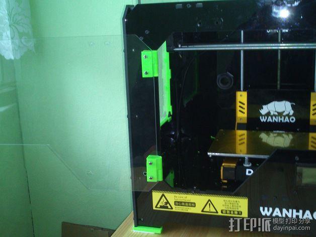 打印机前窗铰链 3D模型  图4