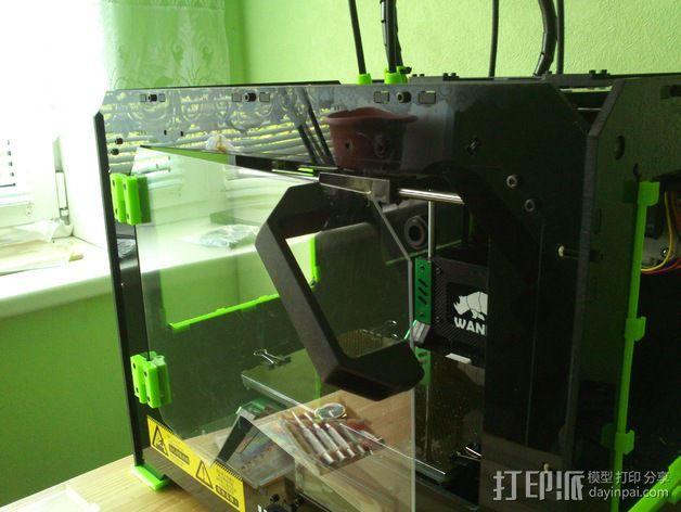 打印机前窗铰链 3D模型  图6