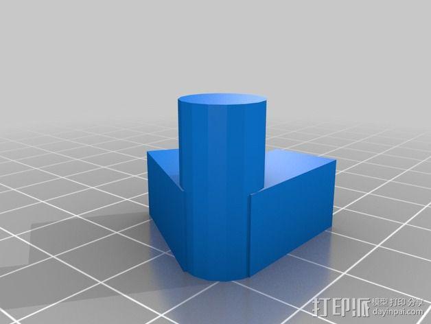 灯丝线轴架 3D模型  图8