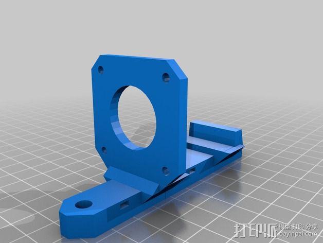 Nema17适配器 3D模型  图3