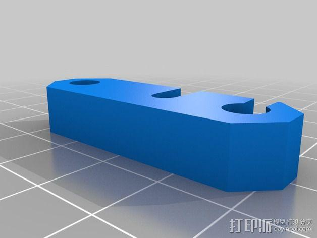 Nema17适配器 3D模型  图4