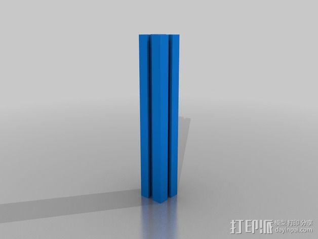 铝梁 3D模型  图2