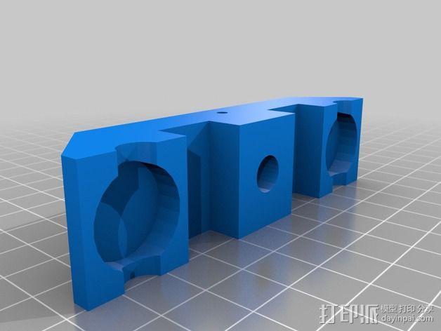 操纵杆支架 3D模型  图2