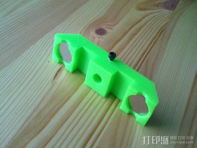 操纵杆支架 3D模型  图3