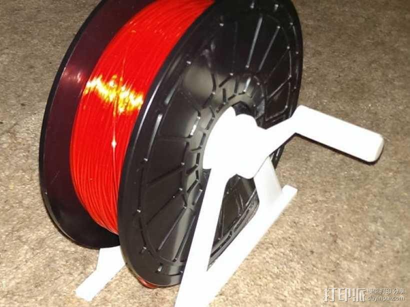 灯丝滚轴支架 3D模型  图1