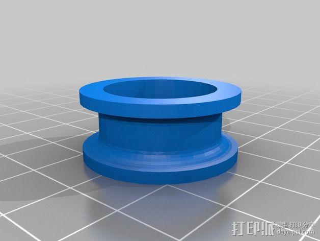 灯丝滚轴支架 3D模型  图2