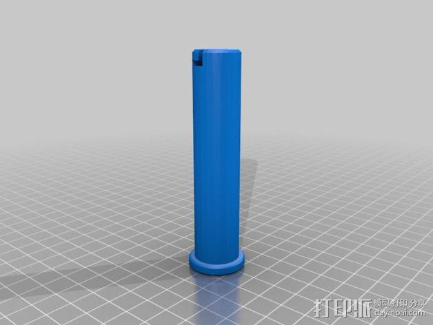 灯丝滚轴支架 3D模型  图5