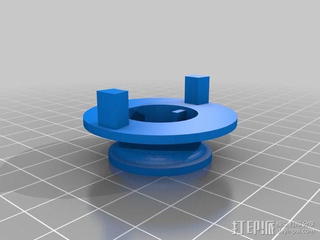灯丝滚轴支架 3D模型  图4