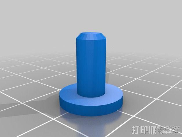 灯丝滚轴支架 3D模型  图7