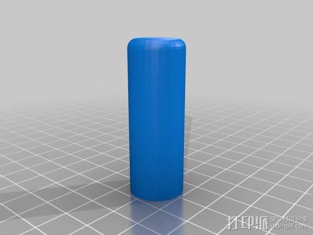 灯丝滚轴支架 3D模型  图6