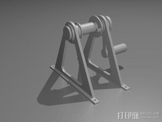 灯丝滚轴支架 3D模型  图10