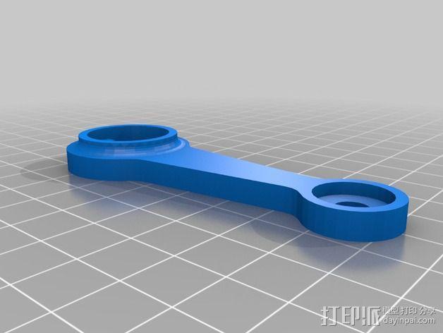 灯丝滚轴支架 3D模型  图8