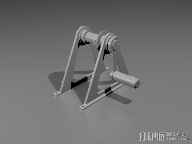灯丝滚轴支架 3D模型  图9
